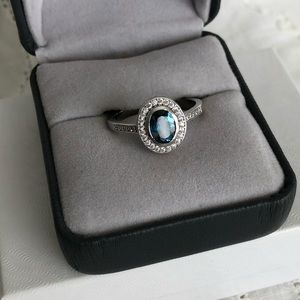 Natural London Blue Topaz Ring 8